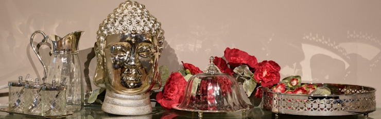 Adhvik Decor Dining roomCrockery & glassware Metal Metallic/Silver