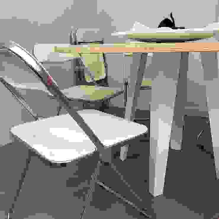 ibedi laboratorio di architettura Escritórios Alumínio/Zinco Branco