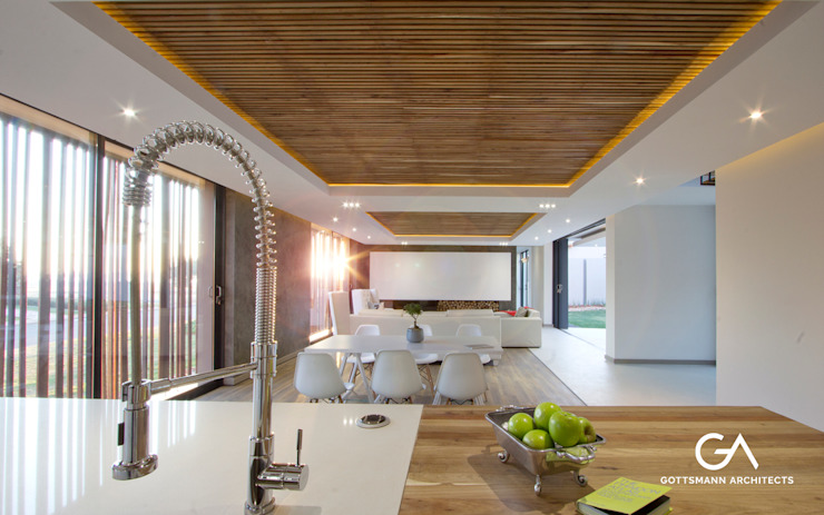 Avant-Garde Farmhouse by Gottsmann Architects Country Wood Wood effect