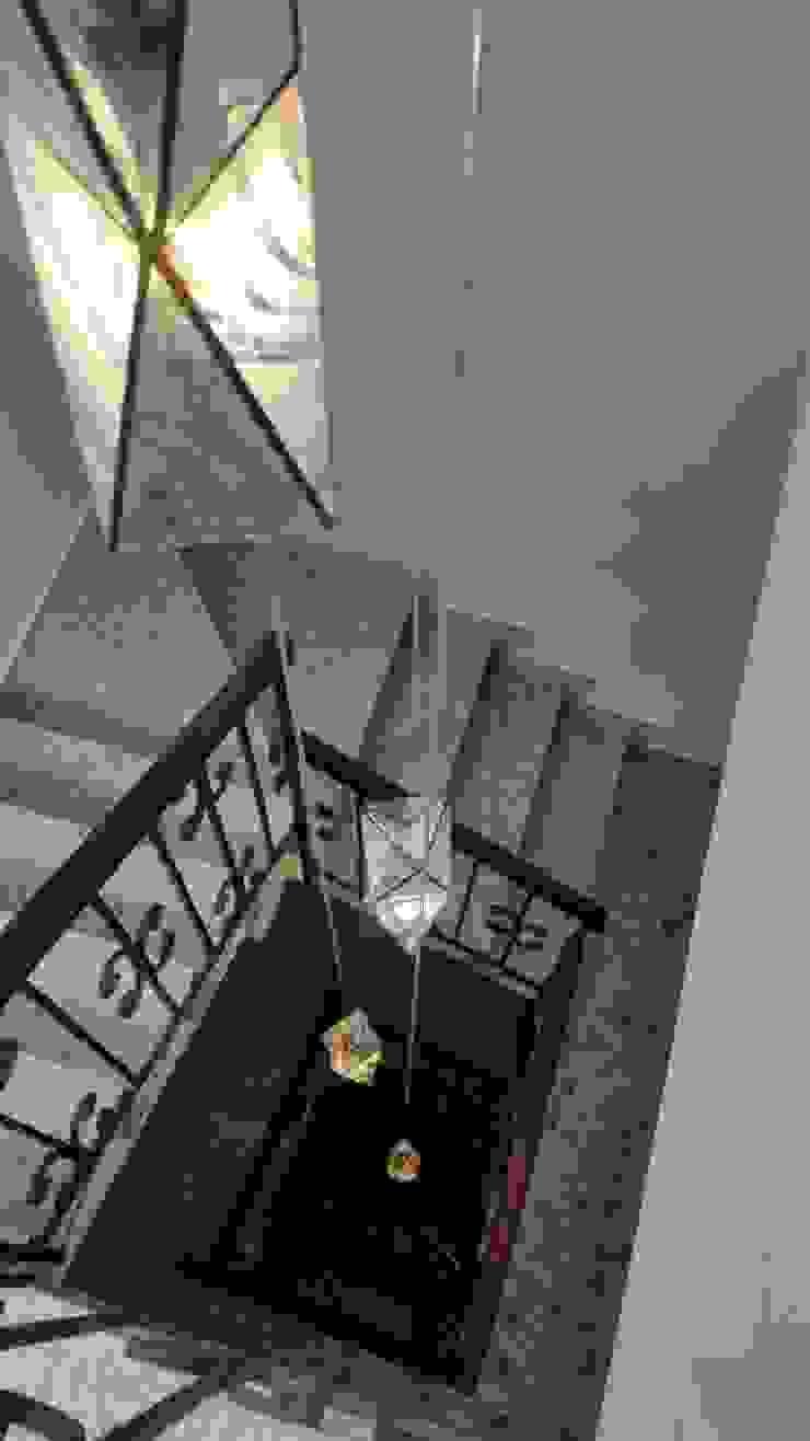 Lamparas geometricas para cubo de escalera MKVidrio Escaleras Vidrio Transparente