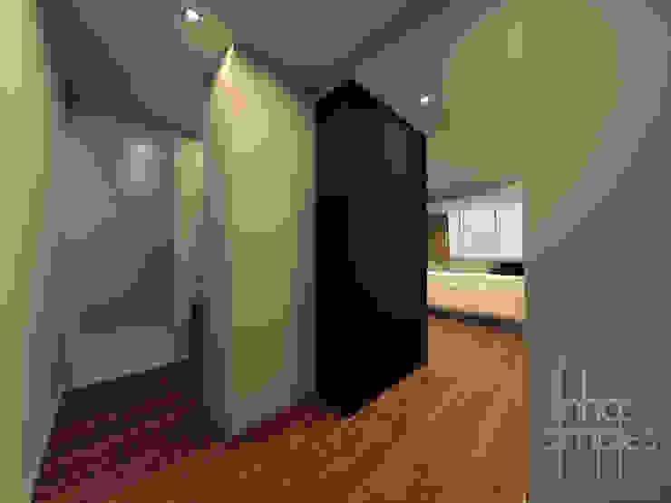 Linhas Simples Modern corridor, hallway & stairs