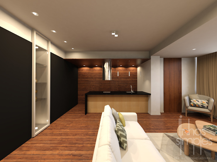 Linhas Simples Modern living room