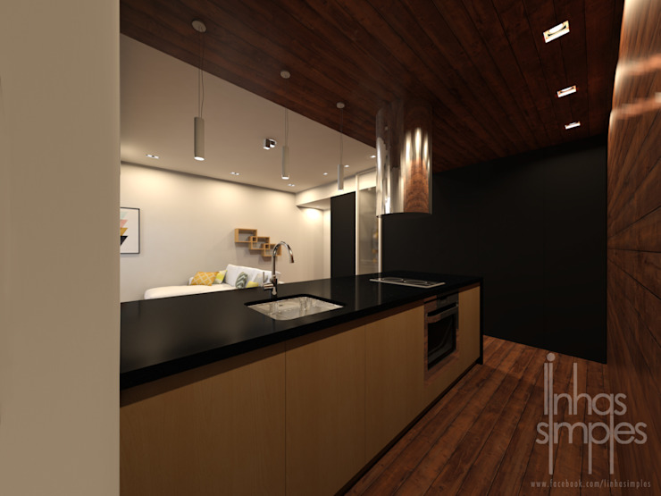 Linhas Simples Small kitchens