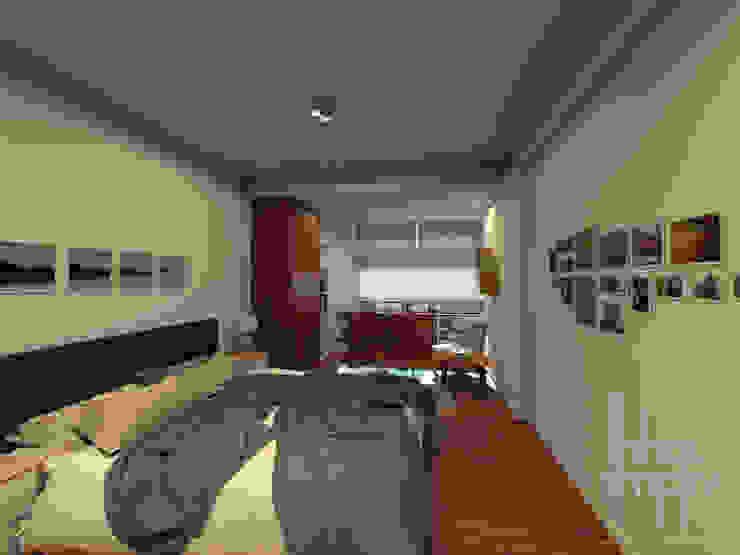 Linhas Simples Modern style bedroom