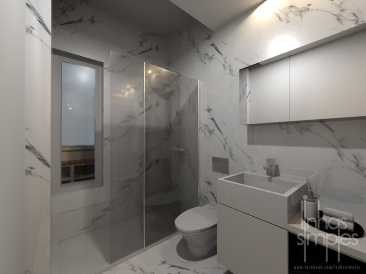 Linhas Simples Modern bathroom