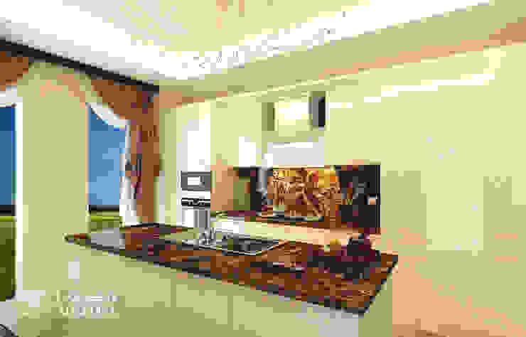 Kitchen interior design in luxury villa Modern kitchen by Algedra Interior Design Modern
