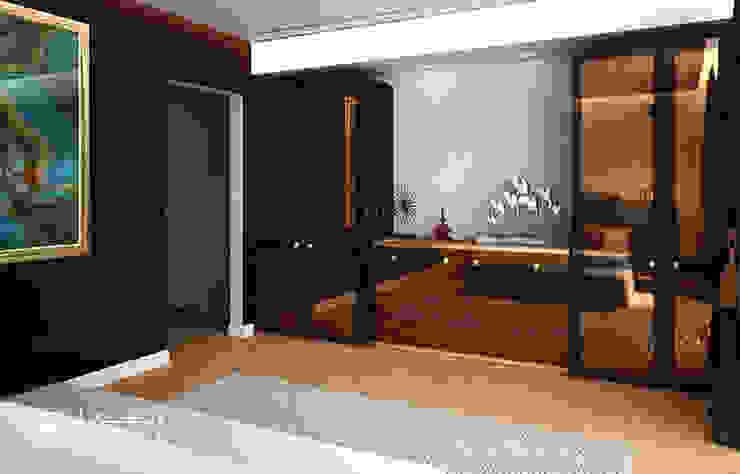 Modern villa bedroom interior decor Modern style bedroom by Algedra Interior Design Modern