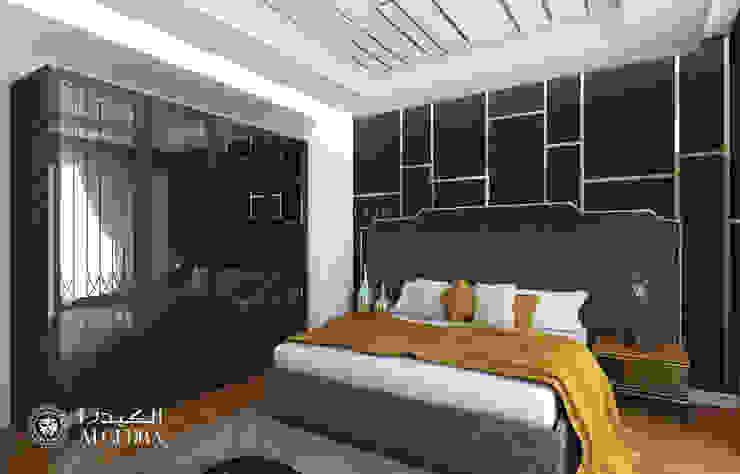 Modern villa bedroom design in Abu Dhabi Modern style bedroom by Algedra Interior Design Modern