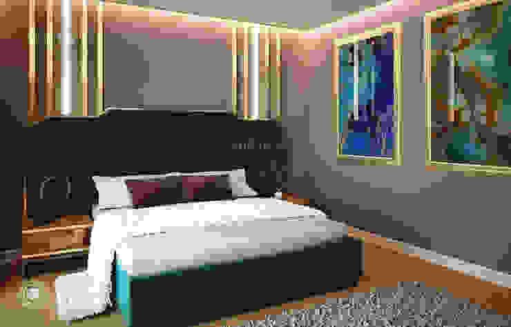 Luxury bedroom design in modern villa Modern style bedroom by Algedra Interior Design Modern