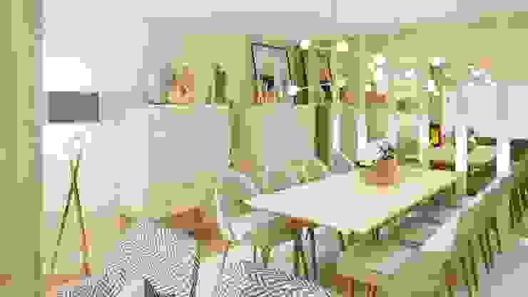Projeto 3D Ossoyo Salas de jantar modernas
