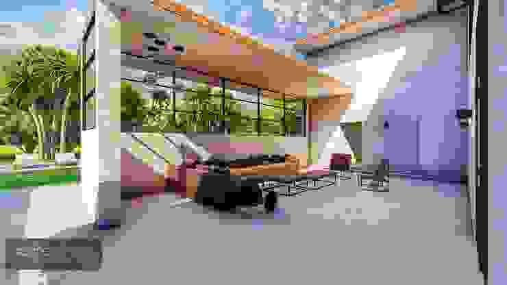 Living exterior Varandas, marquises e terraços modernos por Aadna.Design Moderno