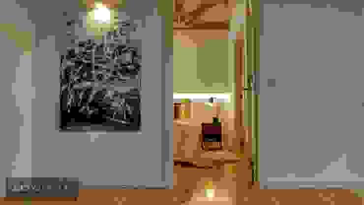 Pintura contemporânea Corredores, halls e escadas minimalistas por Aadna.Design Minimalista