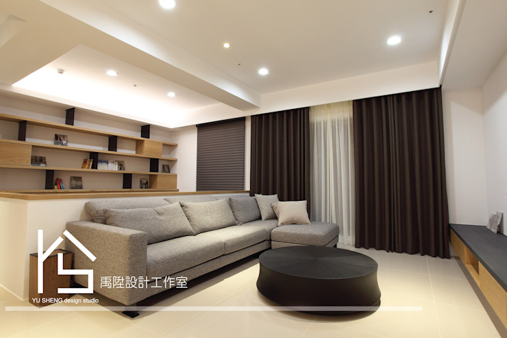 Modern Living Room by 禹陞設計工作室 Modern Wood Wood effect