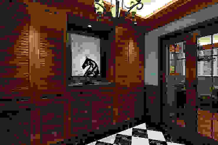 玄關 經典風格的走廊,走廊和樓梯 根據 西雅圖設計 古典風