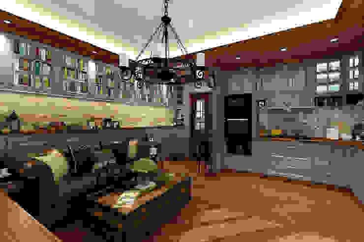 客廳/餐廳/廚房 根據 西雅圖設計 古典風