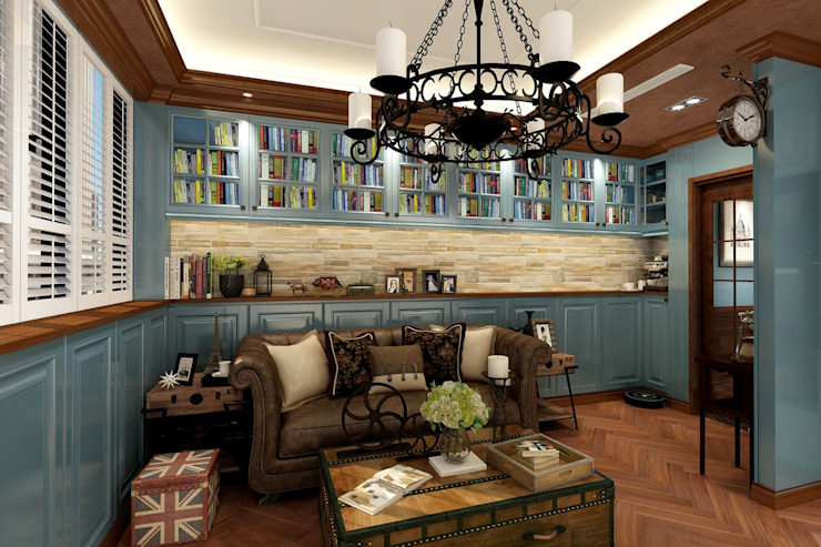 客廳 根據 西雅圖設計 古典風