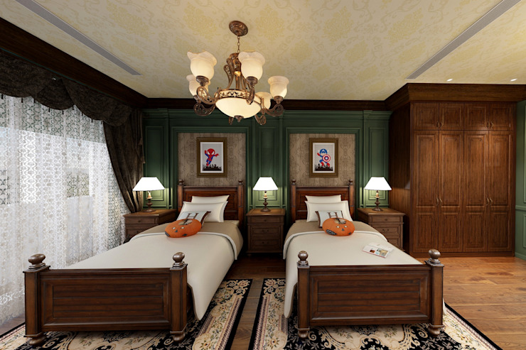 男孩房 根據 西雅圖設計 古典風