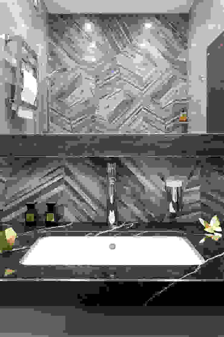 Софт-минимализм с комфортом, ЖК <q>Виноградный</q> Ванная комната в стиле минимализм от Елена Бодрова Минимализм