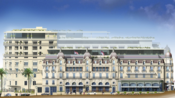 Hotel de Paris - Listone Giordano Hoteles de estilo moderno de Ghenos Communication Moderno