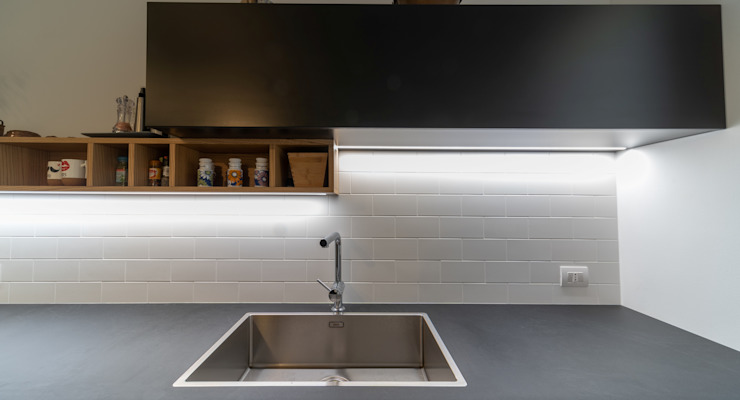 zona Tortona ristrutturami Cucina attrezzata MDF Grigio
