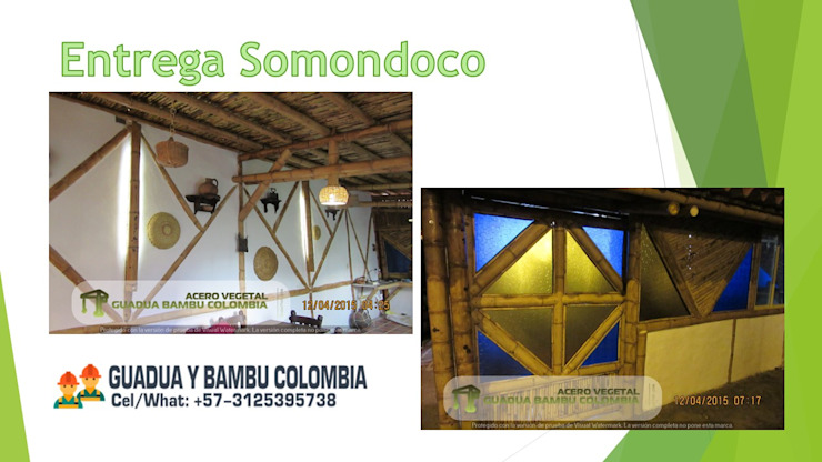 PROYECTO DE CONSTRUCCION CASAS VEGETARIANAS O SOSTENIBLES, ACERO VEGETAL GUADUA BAMBU de GUADUA Y BAMBU COLOMBIA