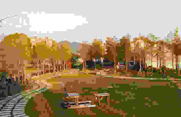 蝴蝶橋美食莊園-台中 根據 居林木構建築|木屋設計|木屋建造|木屋保養|整體規劃設計營建 田園風