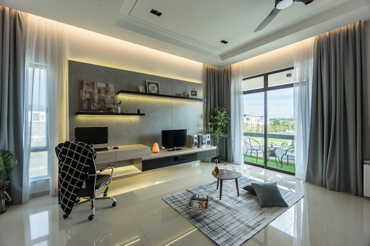 SETIA UTAMA 3-STOREY CLUSTER HOME Simsan Design Modern style bedroom
