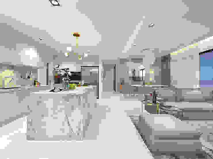 FIVE STONES CONDOMINIUM Simsan Design Built-in kitchens