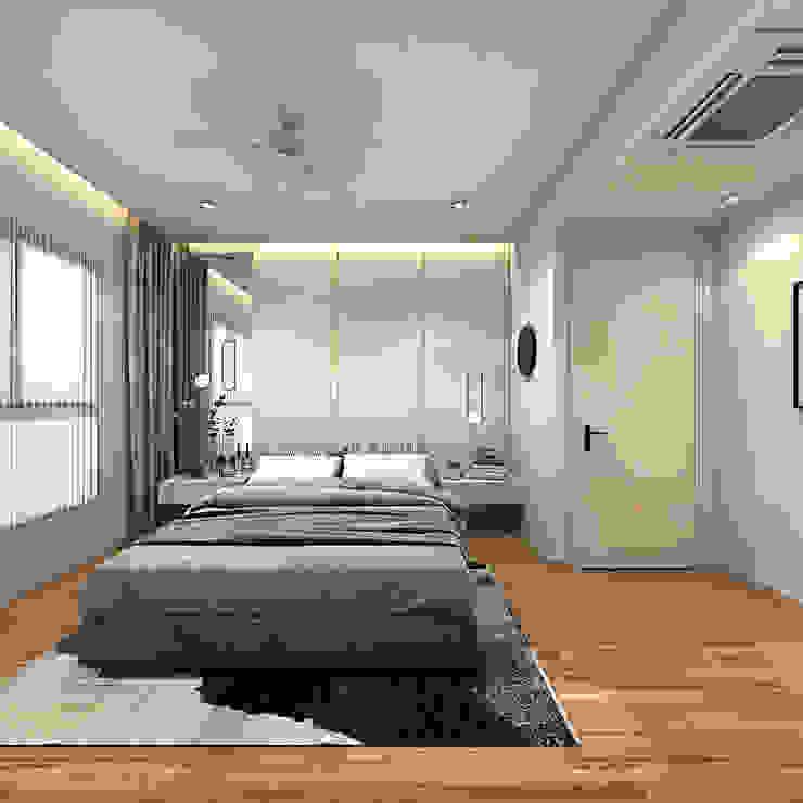 FIVE STONES CONDOMINIUM Simsan Design Scandinavian style bedroom