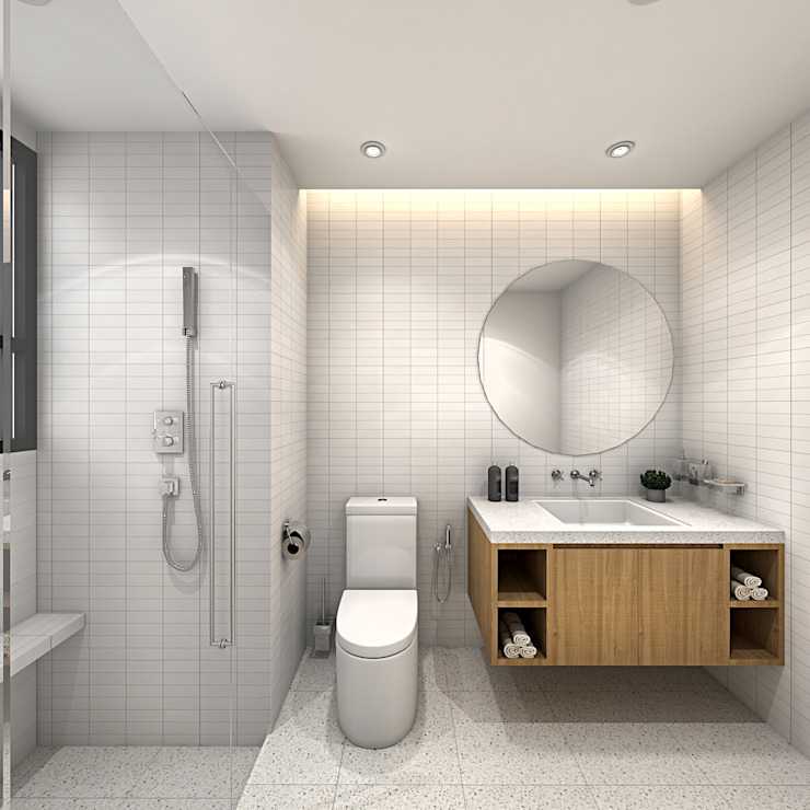 FIVE STONES CONDOMINIUM Simsan Design Scandinavian style bathrooms