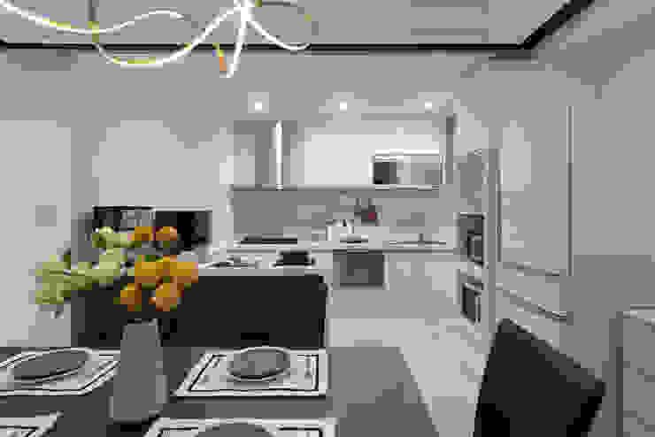 延伸 現代廚房設計點子、靈感&圖片 根據 極品家室內裝修設計工程有限公司 現代風