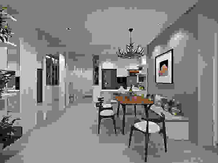 LE YUAN RESIDENCE Simsan Design Modern dining room