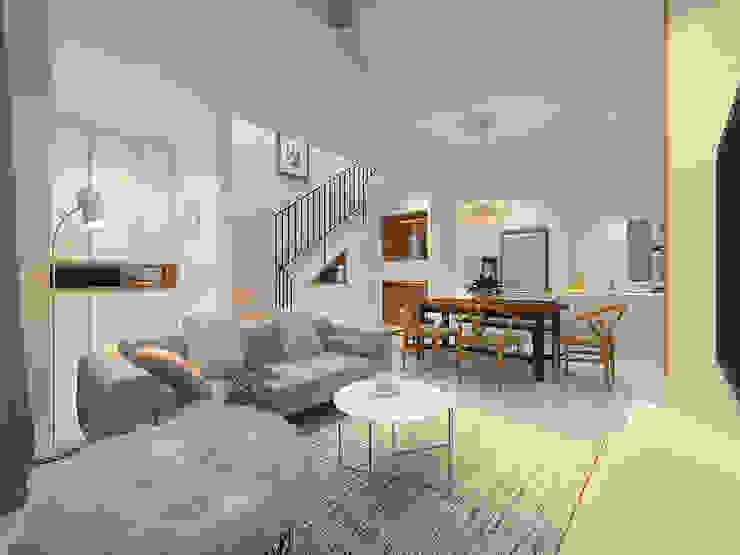 TAMAN SENTOSA TERRACE HOME Simsan Design Living room