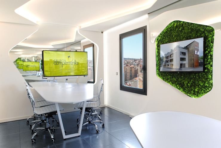 MANUEL TORRES DESIGN Modern offices & stores White