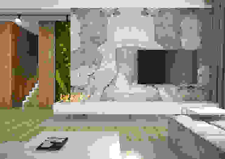 Nevi Studio Soggiorno moderno Pietra Bianco
