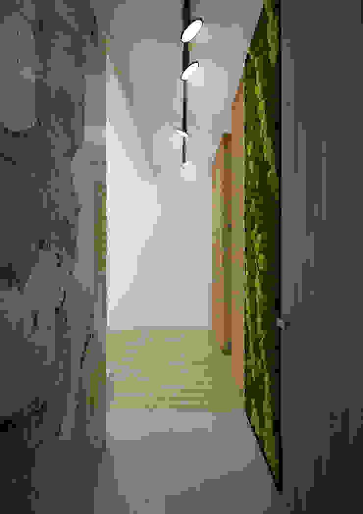 Nevi Studio Ingresso, Corridoio & Scale in stile moderno Legno Bianco