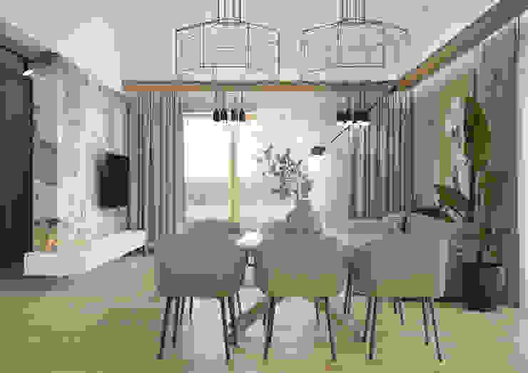 Nevi Studio Sala da pranzo moderna Grigio