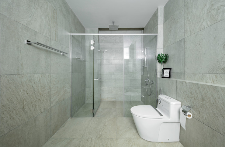 DCS CREATIVES SDN. BHD. Salle de bain moderne Ardoise Gris