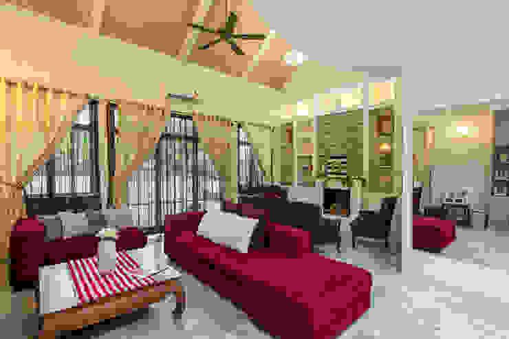 Provincial Providence @ Taman Bunga Raya DCS CREATIVES SDN. BHD. Living room Marble White