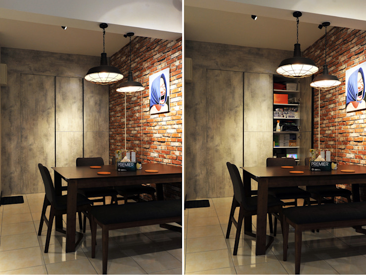 Boldly Industrial @ Green Suria Apartment at Cheras 9 Miles, Selangor Industrial style dining room by DCS CREATIVES SDN. BHD. Industrial Plywood