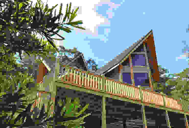 苗栗銅鑼-張公館 根據 居林木構建築|木屋設計|木屋建造|木屋保養|整體規劃設計營建 現代風 木頭 Wood effect
