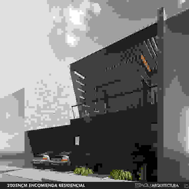 Vista frontal de Espacio Arquitectura Minimalista Hierro/Acero