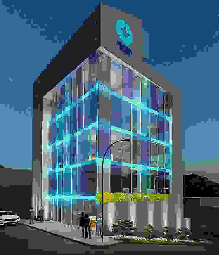 Fachada de FRANCO CACERES / Arquitectos & Asociados Moderno Vidrio