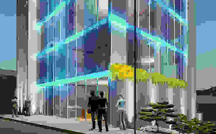 Oficinas y CEO VLT de FRANCO CACERES / Arquitectos & Asociados Moderno