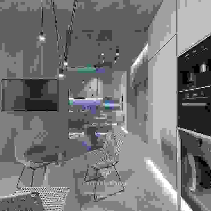 Студия дизайна интерьера Руслана и Марии Грин Cocinas de estilo ecléctico