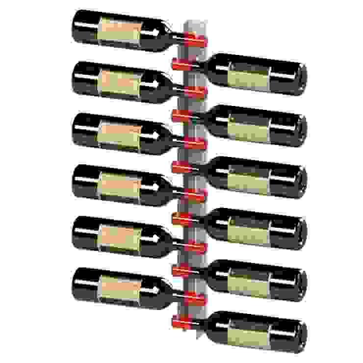 Garrafeiros - Adegas para Vinho Ruang Penyimpanan Wine/Anggur Modern Metal Black