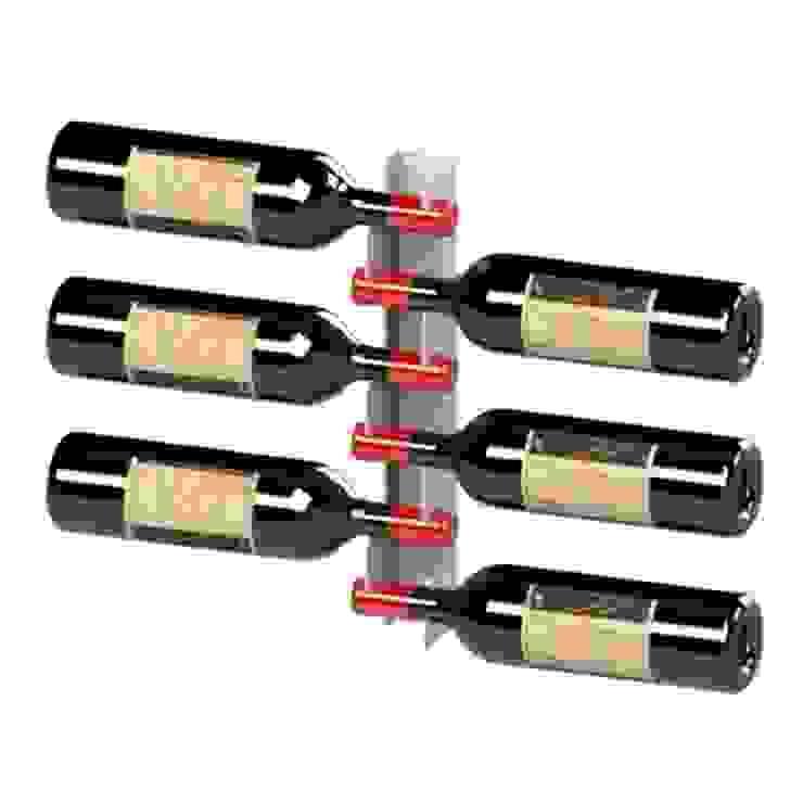 Garrafeiros - Adegas para Vinho Ruang Penyimpanan Wine/Anggur Modern Besi/Baja White