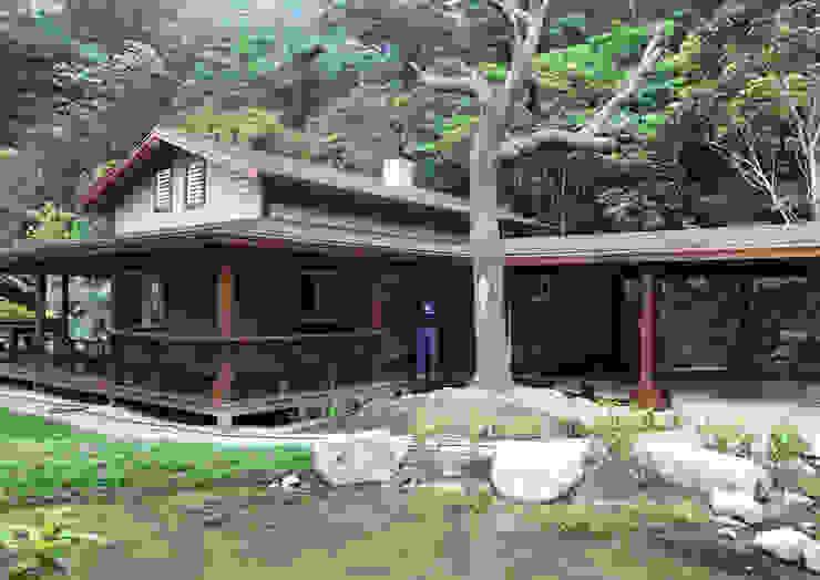 by 居林木構建築|木屋設計|木屋建造|木屋保養|整體規劃設計營建 Asian Wood Wood effect