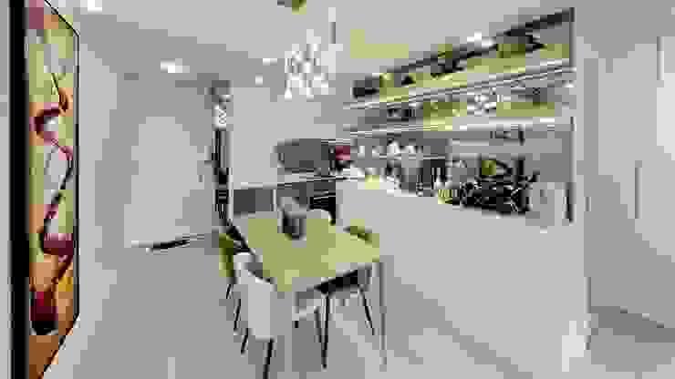 廚房,飯廳柜,餐枱椅 现代客厅設計點子、靈感 & 圖片 根據 FNW(全港)一站式裝修材料 現代風