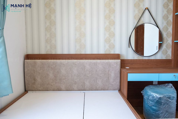Đầu giường ốp nệm sang trọng bởi Công ty TNHH Nội Thất Mạnh Hệ Hiện đại